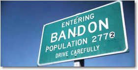 bandon by the sea sign