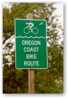 oregon coast bike sign