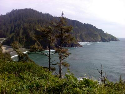view from Heceta Head Litehouse