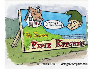 pixie kitchen billboard